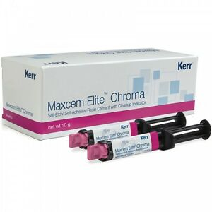 Kerr Maxcem Elite Chroma Self etch Adhesive Resin Cement Clear