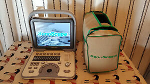 Sonomed Sonoscape A6v Portable Ultrasound year 2010 With Probe L745