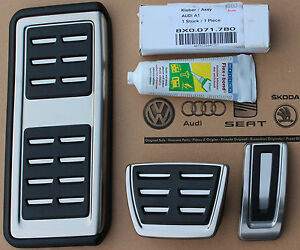 Audi A1 S1 Original Pedal Set With Footrest With Paste 8x1064205c Automatic Cars
