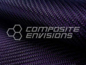 Purple Reflections Carbon Fiber Fabric 2x2 Twill 50 3k 5 9oz Remnant Roll 382