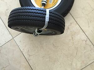 2 tires New Sawtooth 4 10 3 50 6 Flat Free Hand Truck Utility Universal Wheel