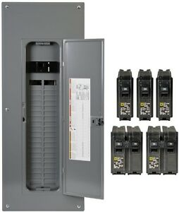 Square D Main Circuit Breaker Panel Box 200 Amp 40 space 80 circuit Indoor
