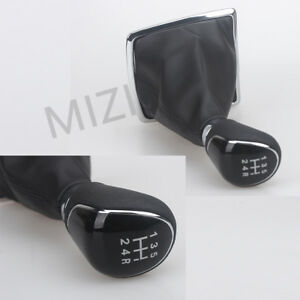 Manual Gear Shift Knob 5 Speed With Leather Boot For Ford Focus Mk2 C Max Kuga