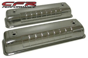 Chrome Finish Steel Valve Covers For 55 64 Ford Y block 272 292 312