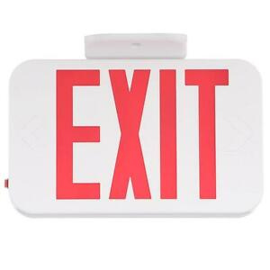 Progress Lighting White Led Exit Sign With Red Letters Pe008 30 2 pack