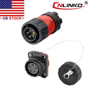Cnlinko 5 Pin Power Signal Connector Male Plug Female Socket Waterproof Ip67