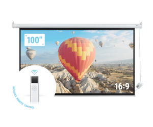 Homegear 100 16 9 Hd Electric Motorized Projector Screen Remote