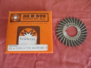 New Moon Cutter Co Ss2562 2 1 2 X 1 16 X 7 8 28 Teeth Slitting Saw Usa