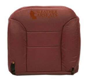 95 99 Chevy Silverado Tahoe Driver Bottom Leather Seat Cover Burgundy Pattern