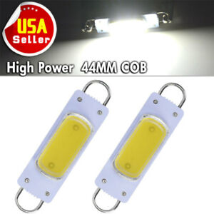 2x Super White 44mm Cob Rigid Loop Festoon Led Light Bulb 561 562 567 564 212 2