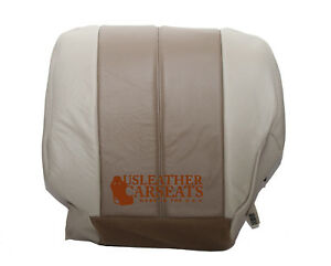 2001 2002 Gmc Yukon Denali Xl Passenger Bottom Leather Seat Cover 2 Tone Tan