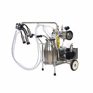 Electric Cow Milking Machine Vacuum Pump One Bucket Milker 50 Kpa 0 75 Kw