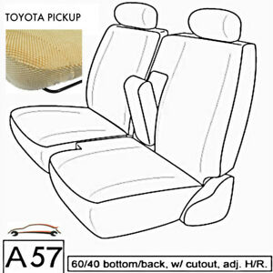 A57 Bg Toyota Compact Truck Xcab Rcab Front 60 40 Split Bench Custom Seat Covers