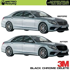 3m 1080 Black Vinyl For Chrome Delete Car Vehicle Decal Film Sticker Wrap
