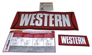 Western Plow Part 28547 Unimount Blade Label Kit Decals Stickers