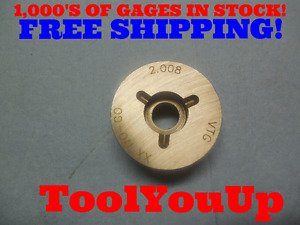 2 008 Class Xx Smooth Pin Plug Gage 2 2 000 008 Oversize Inspection Tooling
