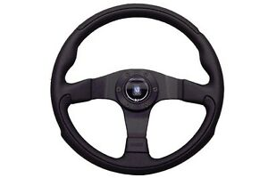 Nardi Leader Steering Wheel 350mm Black Perforated Leather With Black Spokes