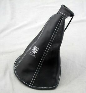 Nardi Hand E Brake Boot Black Smooth Leather And Black Perforated Leather
