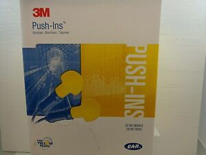 3m Ear Plugs Yellow 31 1003 200 Pair Universal Dome Push in