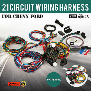 21 Circuit Wiring Harness Fit Chevy Universal Install Wires Chrysler