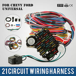 21 Circuit Wiring Harness Fit Chevy Universal Hotrods Us For Ford