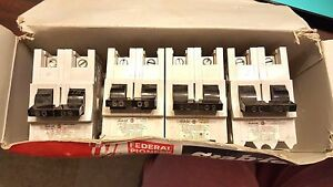 Box 4 New other Federal Pioneer 2p 60a Stab lok Circuit Breakers Part Na260