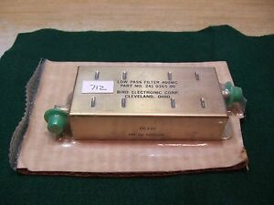 Bird 241 0365 00 400 Mhz Low Pass Filter Bnc New