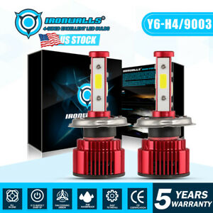 Cree H4 9003 2000w Led Headlight Conversion Kit 6500k 300000lm Bulb Hi Lo Beam