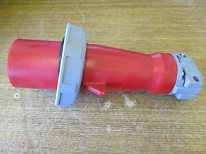 New Hubbell Watertight Pin And Sleeve Plug 63a 220 380vac Hbl563p6w