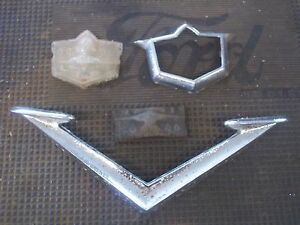 1953 Desoto Hood Ornament V Emblem Trim 53 Rat Rod Man Cave Decor