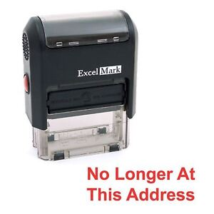 No Longer At This Address Excelmark Self Inking Rubber Stamp A1539 Red Ink