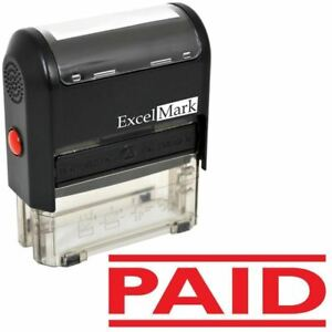 Excelmark Paid Self Inking Rubber Stamp A1539 Red Ink
