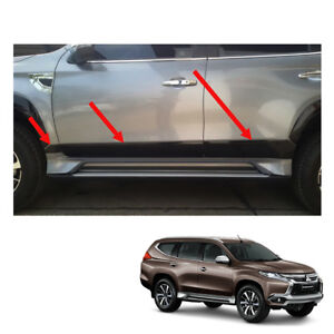 For Mitsubishi Pajero Montero Sport Body Cladding Black Painted 6 Pc On 16 17