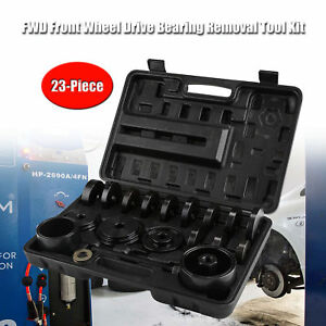 23 Pcs Front Wheel Drive Bearing Removal Adapter Puller Pulley Tool Kit W case