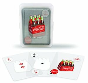 Bicycle Clear Coca-Cola Playing Cards 100% plastic coke bottle with case new