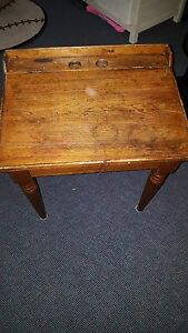 Childrens Antique Wood Desk