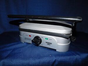 Used Waring Pro Grill Panini Maker Wgg500 Just Machine Stainless No Plates