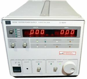 Hp Agilent 6038a System Power Supply 0 60v 0 10a W Manual