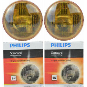 2 Pc Philips 4412ac1 Headlight Bulbs For Electrical Lighting Body Exterior Zy