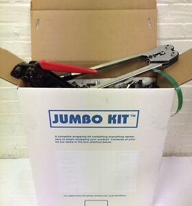 Jumbo Polyest Strapping Kit 5 8 X 030 X1200 Lbs Brake Strengt Seals tools