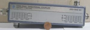 Hp Dual Directional Coupler Model 775d 450 940mc N type