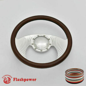 14 Billet Steering Wheel Walnut Full Wrap Chevrolet Monte Carlo Camaro W Horn
