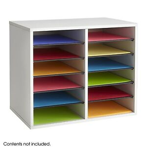 Desk Top Sorter Office Paper Sorter Shelf File Storage Organizer 12 Compartment