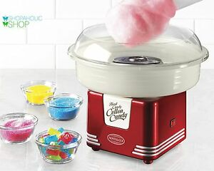 Sugar Free New Cotton Candy Maker Retro Series Nostalgia Kids Party Electric Red
