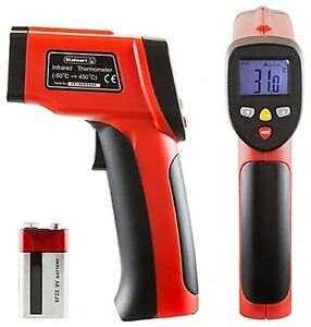 Non contact Digital Infrared Laser Thermometer In Red