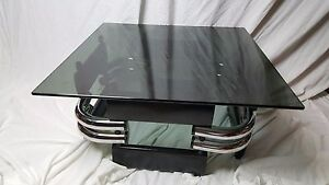 Incredible Streamline Vintage Coffee Table Atomic Age Jazz Age Art Deco Table