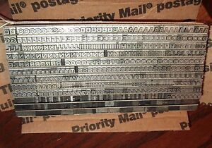 Vintage 12pt Copperplate Gothic Bold No 46 Type Letterpress Printing Antique