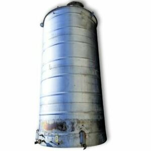 Used 8 Dia Stainless Steel Vertical Tank 6 000 Gallons
