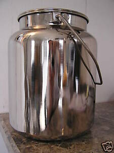 New Stainless Steel Milk Can With Lid 10 Qt Capacity