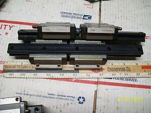 Lot Of 4 Thk Hsr20r Linear Bearing 2 Slide Rails 267mm